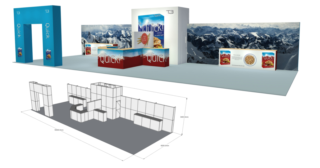 Modular Exhibition Stand By Me : Exhibition display minprint