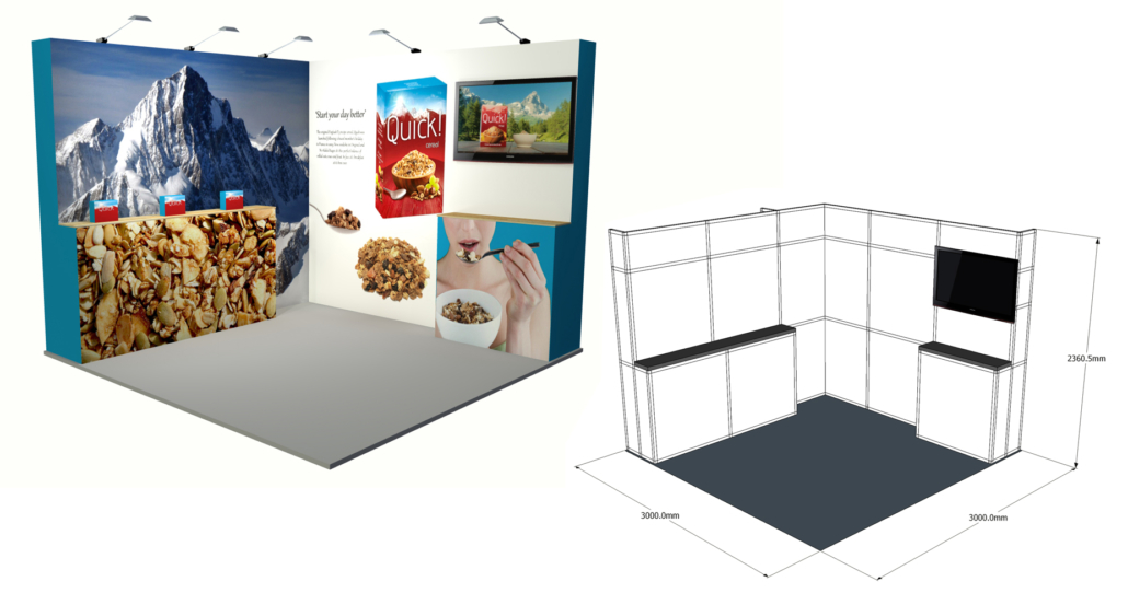 Small Exhibition Stand Near Me : Exhibition display minprint